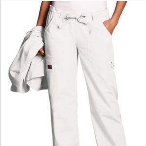 Cherokee White Drawstring Pants Large New NWT